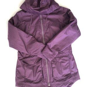 Columbia Purple Zip Up Rain Fleece Jacket Size M